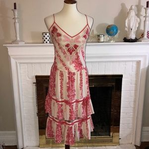 🌹Tracy Reese silk floral cocktail dress Sz 10